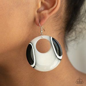 HAUTE Topic White Earrings (light acrylics)